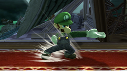 Ataque Smash lateral Luigi SSBB
