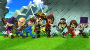 Créditos Modo Leyendas de la lucha Luchador Mii SSB4 (Wii U)