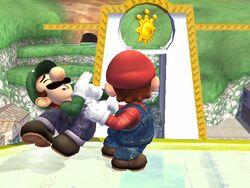 Lanzamiento hacia adelante (1) Mario SSBB