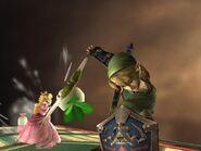 Link sosteniendo el bumerán tornado SSBB