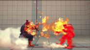 Akuma usando Shakunetsu Hadoken contra Ryu en Street Fighter IV