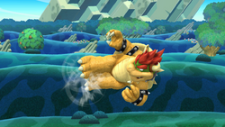 Ataque aéreo hacia atrás de Bowser SSB4 (Wii U)