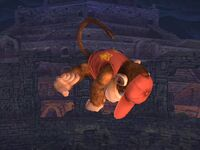 Ataque aéreo inferior Diddy Kong SSBB