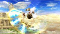 Ataque aéreo hacia abajo Pit SSB4 Wii U