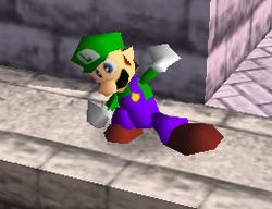 Ataque fuerte hacia abajo de Luigi SSB