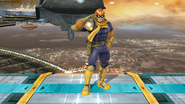 Burla inferior de Captain Falcon (1-1) SSB4 (Wii U)