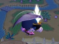 Ataque aéreo normal Meta Knight SSBB