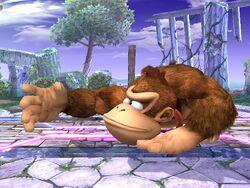 Ataque fuerte inferior Donkey Kong SSBB