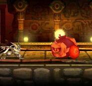 Greninja junto a Rodomba en Smashventura SSB4 (3DS)