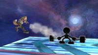Mr Game y Watch Ataque Smash Inferior-SSBB