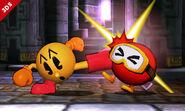 Pac-Man en el Smashventura SSB4 (3DS)