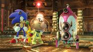 Sonic y Olimar en la Central Geotérmica SSB4 (Wii U)