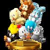Trofeo de Animales de la Zona Windy Hill SSB4 (Wii U)