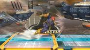 Ataque en carrera de Captain Falcon SSB4 (Wii U)