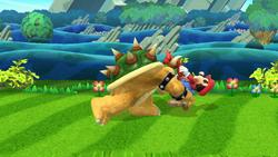 Lanzamiento trasero de Bowser (1) SSB4 (Wii U)