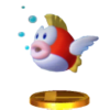 Trofeo de Cheep Cheep SSB4 (3DS)