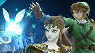 Zelda y Link en Castillo del Dr. Wily SSB4 (Wii U)