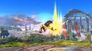 Karateka Mii usando Golpe martillo (2) SSB4 (Wii U)