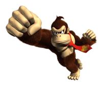 Pegatina de Donkey Kong en DK Jungle Beat SSBB