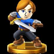 Trofeo de Espadachín Mii SSB4 (Wii U)