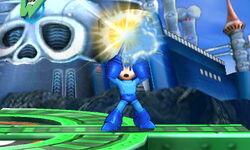 Ataque Smash hacia arriba de Mega Man (2) SSB4 (3DS)