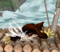 Ataque Smash lateral de Donkey Kong (2) SSBM