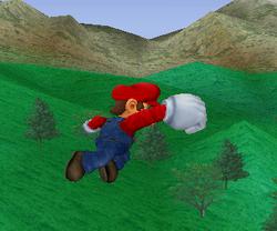 Ataque aéreo hacia adelante de Mario SSBM