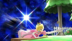 Ataque de recuperación desde el borde Peach SSB4 Wii U