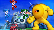 Créditos Modo Leyendas de la lucha Mega Man SSB4 (3DS)