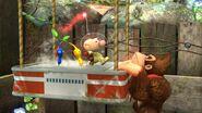 Donkey Kong y Olimar en Garden of Hope SSB4 (Wii U)