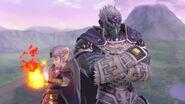 Ganondorf junto a Zelda en el Castillo de Hyrule SSBU
