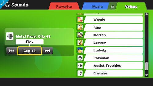 Sonidos SSB4 (Wii U)