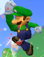 Super Salto Puñetazo Luigi SSBM