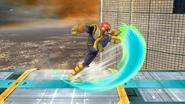 Ataque Smash inferior de Captain Falcon (1) SSB4 (Wii U)