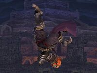 Ataque aéreo superior Ganondorf SSBB