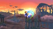 Karateka Mii usando Patadas giratorias (2) SSB4 (Wii U)