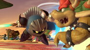 Meta Knight y Bowser en el Pueblo Smash SSBU