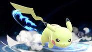 Pikachu usando su ataque de recuperación en SSBU