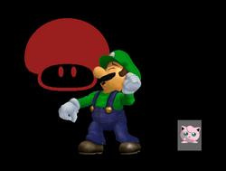 Pose de victoria Luigi X (1) SSBM