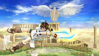 Ataque aéreo hacia atrás Pit SSB4 Wii U