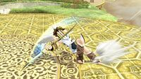 Ataque en carrera (animación 1) Pit SSB4 Wii U