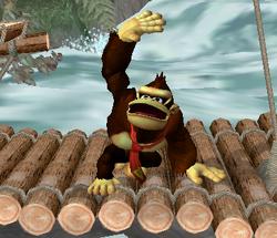 Ataque fuerte hacia arriba de Donkey Kong SSBM