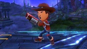 Pose de espera (2) Tirador Mii SSB4 Wii U