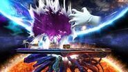 Vista General del Combate Final contra Crazy Hand en Retos Crazy Hand SSB4 (Wii U)