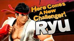 【Smash Bros. for Nintendo 3DS Wii U】 Here comes a new challenger! RYU.
