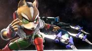 Créditos Modo Senda del guerrero Fox SSB4 (Wii U)
