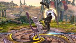 Lanzamiento hacia atrás Mewtwo (2) SSB4 (Wii U)