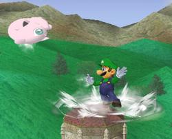 Lanzamiento trasero de Luigi (2) SSBM