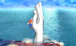 Master Hand Tornado (1) SSB4 (3DS)