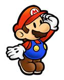 Pegatina de Mario Super Paper Mario SSBB